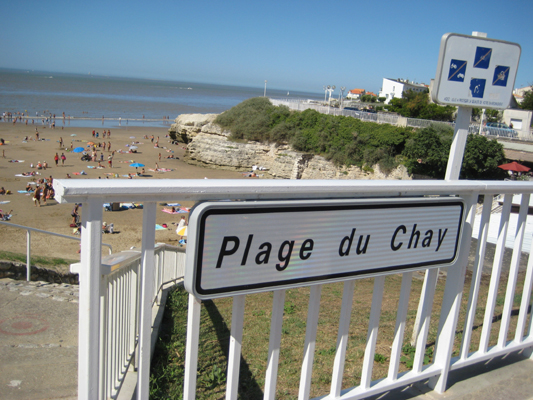 Plage du Chay, one of the sandy coves near at Royan